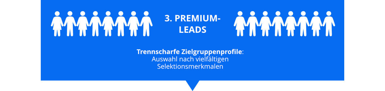 Infografik zu Premium Leads